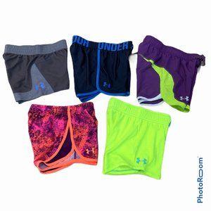 UNDER ARMOUR Lot 5 Girls Small Assorted Shorts